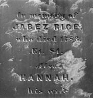 Rice, Jabez; Rice, Hannah