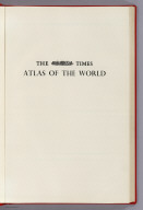 Half Title: The Times Atlas of the World,