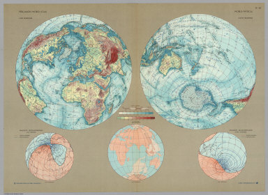 World - Physical. Pergamon World Atlas.