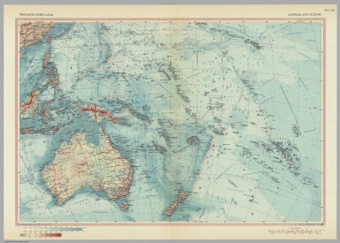 Australia and Oceania. Pergamon World Atlas.