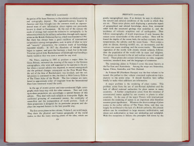 Text Page: (Preface continued) The Times Atlas of the World, Mid-Century Edition, V.1