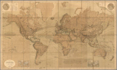 Chart Of The World On Mercators Projection.
