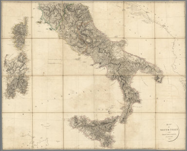 Composite Map: Map of South Italy and Adjacent Coasts.