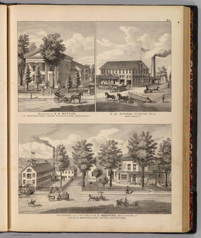 Residences and factory, Bennington and Planing Mill, Brattleboro, Vt.