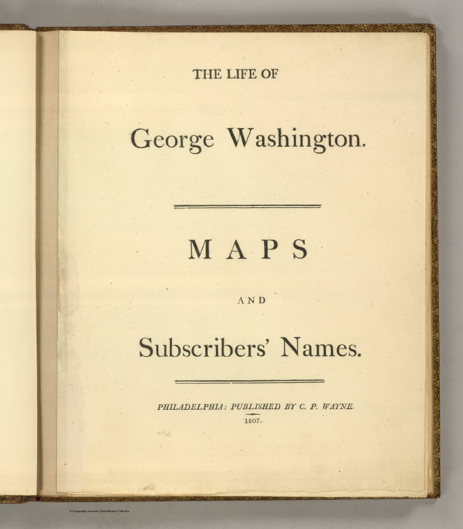 Title Page: The Life of George Washington.