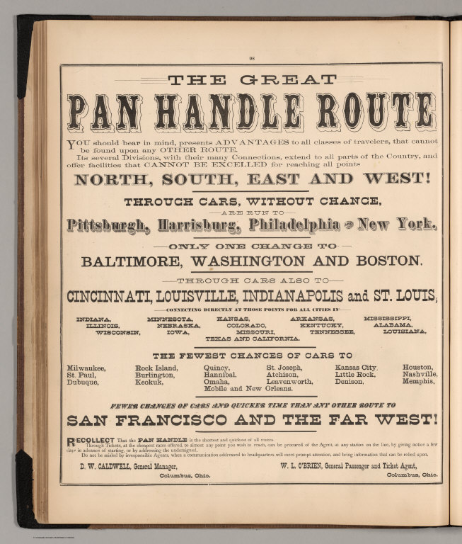 Advertisement: Great Pan Handle Route
