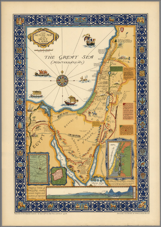 The picture map of the Holy Land
