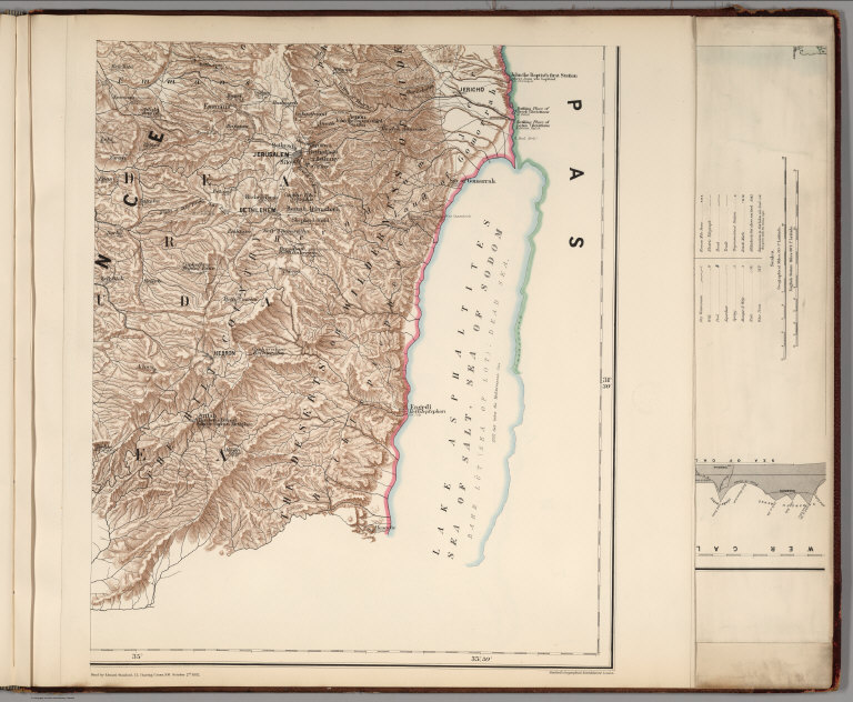 (Sheet 4). Western Palestine Illustrating The New Testament, also The Talmud and Josephus.