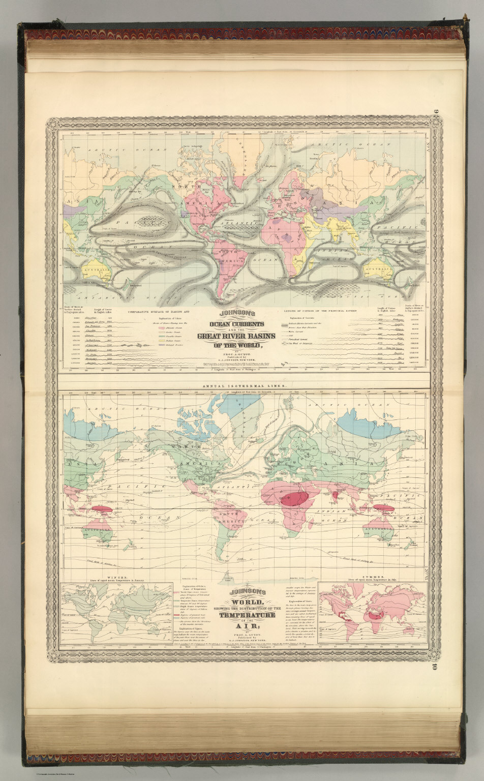 Ocean Currents and the Great River Basins of The World.