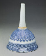 Funnel with underglazed-blue decoration of lotus petals