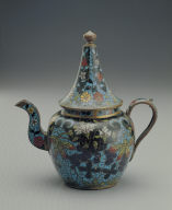 Cloisonne ewer with grapevine decor