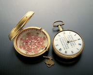Gilt pocket watch decorated with a poem