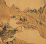 Fishing in Seclusion on the Autumn River (Painting and Calligraphy)