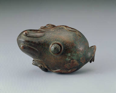 Bronze toad-shaped water dropper