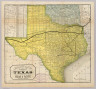 A geographically correct map of the state of Texas. Published by the Texas & Pacific Railway Company. Compiled from actual surveys and containing all changes in lines of counties up to Sept. 1st, 1876. (1878)