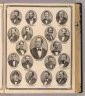 (Portraits of) Hon. Thomas A. Hendricks Governor of Indiana, A.B. Cunningham, W.A. Bonham, Luther Wolfe, Jas W.F. Gerrish, Charles Scholl, Clarence A. Buskirk, Jas. H. Smart, James B. Black, Jno. E. Neff, Leonidas Sexton, W.A. Porter, E. Henderson, B.G. Shaw, Jason B. Brown, J.C. Clarke, Wm. Reader, William L. Matthews, Nim. Headington. (Published by Baskin, Forster & Co. Lakeside Building Chicago, 1876. Engraved & Printed by Chas. Shober & Co. Props. of Chicago Lithographing Co.)