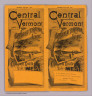 (Covers to) Central Vermont and Grand Trunk Line. Summer edition, 1887. Cheapest route to the West ... American Bank Note Co. N.Y.
