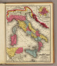 Map of ancient Italy. Engraved to illustrate Mitchell's ancient geography. (with) Plan of ancient Rome. (with) Vicinity of ancient Rome. Drawn & engraved by J.H. Young. Entered ... 1844, by S. Augustus Mitchell ... Eastern District of Pennsylvania. (1875)