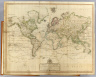 A new chart of the World on Wright's or Mercator's projection in which are exhibited all the parts hitherto explored or discovered, with the tracks of the British circumnavigators Byron, Wallis, Carteret and Cook, &c. and the track of La Perouse in the Pacific Ocean. Published 25th Novemr. 1800 by Laurie & Whittle, No. 53 Fleet Street, London.