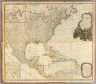 (Composite of) A new map of North America, with the West India Islands. (with) A particular map of Baffin and Hudson's Bay. (with) The passage by land to California discover'd by Father Eusebius Francis Kino a Jesuit, between the years 1692 and 1701 before which and for a considerable time since California has always been described in all charts & maps as an island. Divided according to the Preliminary Articles of Peace, signed at Versailles, 20 Jan. 1783, wherein are particularly distinguished the United States and the several provinces, governments &c. which compose the British Dominions, laid down according to the latest surveys, and corrected from the original materials of Goverr. Pownall, Membr. of Parliamt. London, Published by Laurie & Whittle, No. 53, Fleet Street, 12th May, 1794.