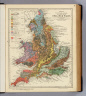 Geological map of England & Wales, with leading railways by Henry W. Bristow, F.R.S., F.G.S., Director of the Geological Survey of England and Wales. Letts's popular atlas. Letts, Son & Co. Limited, London. (1883)