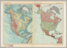 North America - Physical. North America - Political. Pergamon World Atlas. Pergamon Press, Ltd. & P.W.N. Poland 1967. Sluzba Topograficzna W.P.