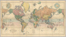 Stanford's Library Map Of The World On Merctor's Projection. London, Edward Stanford, 26 & 27 Cockspur Street, Charing Cross, S.W. 1900. London: Published by Edward Stanford ... London. Stanford's Geogl. Estabt. (inset) The Arctic Regions. (inset) The Antarctic Regions.