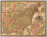 Mitchell's Reference & Distance Map Of The United States By J.H. Young. Published By S. Augustus Mitchell. Philadelphia: For Sale By Mitchell & Hinman, No. 6 North Fifth Street 1835. Engraved by J.H. Young, F. Dankworth, E. Yeager & E. F. Woodward. Entered ... 1833 by S. Augustus Mitchell ... Pennsylvania ... (illustration) Designed by W. Mason. (inset) A General Map Of The United States with the contiguous British & Mexican Possessions. (with 12 additional inset maps).