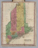 Maine. (Pocket Atlas Of The New England States And New York). (with 7 maps) Connecticut, New York. Maine. New Hampshire. Vermont. Massachusetts. Rhode Island. Published by A. Finley Philada. Young & Delleker Sc.