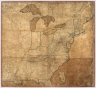 A New and Correct Map of the United States of North America, Exhibiting the Counties, Towns, Roads &c. in Each State. Carefully Compiled from Surveys and the Most Authentic Documents, by Samuel Lewis. W. & S. Harrison, sculpt. Philadelphia, Published by Kimber & Sharpless for Emmor Kimber 1818.
