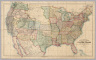 Stanford's Railway & County Map Of The United States And Territories. London. Edward Stanford, 6, Charing Cross. 1861.