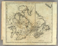 The British Possessions in North America from the best Authorities by Samuel Lewis 1794. (above neat line) Engraved for Carey's American Edition of Guthrie's Geography improved. (untitled inset of New Greenland, Labrador New Britain, and Prince William's Land.)
