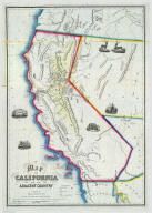 Map Of California And The Adjacent Country.