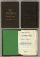 (Covers to) Map Of California And The Adjacent Country. Compiled by F. Goodwin From the best Authors and actual Observation. Entered ... 1855 by F. Goodwin ... New York. Lith. of Geo. E. Leefe, 223 Fulton St. N.Y. (with 8 page description) A Brief Description of California, From The Time of Its First Occupation by the United States and Subsequent Growth ... Accompanied by a Map of California and adjacent Country.