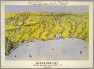 Panorama of the Seat of War. Birds Eye View Of Texas And Part Of Mexico. John Bachmann, Publisher, 115 & 117 Nassau St., New York. Entered ... 1861 by John Bachmann ... New York. Drawn from Nature and Lith by John Bachmann.