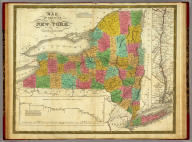 Map Of The State Of New York. Published by S. Augustus Mitchell Philadelphia. 1831. J.H. Young Sc. (inset) Map of the Hudson River from New York To Albany. (inset) Profile of the Levels of the Grand Erie Canal.