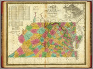 Map Of Virginia And Maryland Constructed from the Latest Authorities. Published by S. Augustus Mitchell Philadelphia. 1831. J.H. Young Sc. (inset) Plan Of Washington City & Georgetown.