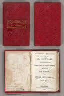 (Covers to) Geographical Description Of The State Of Texas, Also, Of That Part Of The West Coast Of North America, Which Includes Oregon, And Upper California. With Maps. Philadelphia: Thomas, Cowperthwait & Co. 1846. (on verso) Entered ... 1846, by Thomas, Cowperthwait & Co. ... Pennsylvania. (with) Map Of That Part Of The West Coast Of North America Comprising Oregon And Upper California. (with) Map Of The State Of Texas With Portions Of The Adjoining Regions.