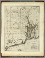 The State of Rhode Island, from the Latest Surveys. 1796. B. Tanner, delt. & sculpt. Engraved for the American Edition of Winterbotham's America, Published by John Reid, N. York.