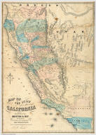 Map Of The State Of California. Published by Britton & Rey Lithographers, Cor. of Commercial & Montgomery Sts. San Francisco. Drawn & Compiled from the most recent Surveys by J.B. Trask. Entered ... 1853 by Britton & Rey ... California.