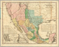 A Map Of The United States Of Mexico, As organized and defined by the several Acts of the Congress of that Republic. Constructed from a great variety of Printed and Manuscript Documents by H.S. Tanner. Third Edition, 1846. Published by H.S. Tanner. Entered ... 1846, by H.S. Tanner ... New York. (inset) Map Of The Roads &c. From Vera Cruz & Alvarado To Mexico.