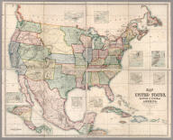Map Of The United States, British & Central America. From State Documents and Unpublished Materials By Professor H.D. Rogers of Boston U.S. and A. Keith Johnston, F.R.S.E. Geographer To The Queen.