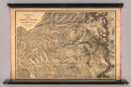 Geological Survey Of California, J.D. Whitney, State Geologist. Map of a portion of the Sierra Nevada adjacent to the Yosemite Valley from surveys made by Chs. F. Hoffmann and J.T. Gardner, 1863-1867.Map of a portion of the Sierra Nevada adjacent to the Yosemite Valley.