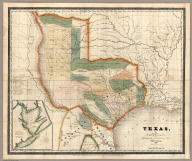 Texas, By David H. Burr. Published by J.H. Colton & Co. New-York. 1835 Engraved by S. Stiles & Co. N. York. Entered ... 1833, by J.H. Colton & Co. ... New York. (inset) Plan of the Port of Galveston, Made by order of the Mexican Government, By Alexander Thompson, Of the Mexican Navy, in 1828.