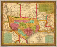 A New Map Of Texas, With The Contiguous American & Mexican States.