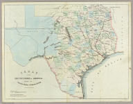 Texas Of The United States Of America, Shewing The Galveston, Houston, & Henderson Rail Road. King, Lith. 63 Queen St. New Cannon St. London.