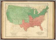 General Map Of The United States Showing the area and extent of the Free & Slave-Holding States, and the Territories of the Union. Entered in Sta. Hall. London ... & according to an act of Congress ... 1857, by H.D. Rogers ... Massachusetts. London, John Murray, Albemarle Street, Edinburgh, W. & A.K. Johnston. Engraved by W. & A.K. Johnston, Edinburgh.