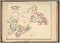 Newfoundland, New Brunswick, Nova Scotia, Cape Breton & Prince Edward Is. By Prof. H.D. Rogers & A. Keith Johnston, F.R.S.E. Entered in Sta. Hall. London ... & according to an act of Congress ... 1857, by H.D. Rogers ... Massachusetts. London, John Murray, Albemarle Street, Edinburgh, W. & A.K. Johnston. Engraved by W. & A.K. Johnston, Edinburgh.
