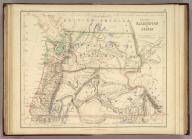 Territories Of Washington And Oregon. By Prof. H.D. Rogers & A. Keith Johnston, F.R.S.E. Entered in Sta. Hall. London ... & according to an act of Congress ... 1857, by H.D. Rogers ... Massachusetts. London, John Murray, Albemarle Street, Edinburgh, W. & A.K. Johnston. Engraved by W. & A.K. Johnston, Edinburgh.
