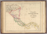 Central America. States Of Nicaragua, & Costa Rica, with part of The Republic Of New Granada. By Prof. H.D. Rogers & A. Keith Johnston, F.R.S.E. Entered in Sta. Hall. London ... & according to an act of Congress ... 1857, by H.D. Rogers ... Massachusetts. London, John Murray, Albemarle Street, Edinburgh, W. & A.K. Johnston. Engraved by W. & A.K. Johnston, Edinburgh.